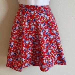 Forever 21 Floral Mini Skirt Medium